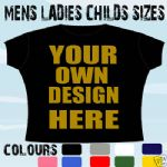 GLASGOW HEN STAG PARTY PERSONALISED T-SHIRT DESIGN